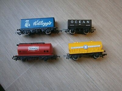 4 x assorted Hornby wagons for OO scale model railways train sets