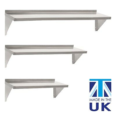 Stainless Steel Shelves Commercial Kitchen Wall Metal Shelf 600/900/1200 Wide