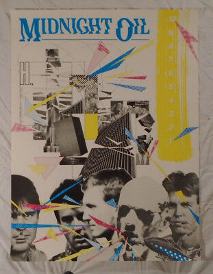 Midnight Oil 1983 Promo Poster 10 9 8 7 6 5 New Condition
