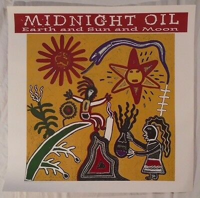 Midnight Oil 1993 Promo Poster Earth And Sun And Moon Peter Garrett Columbia