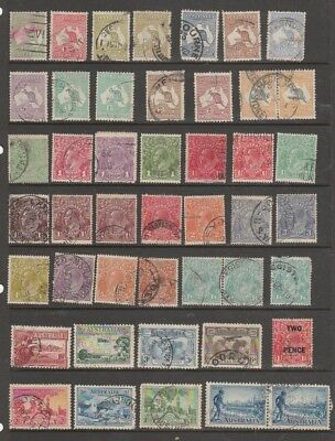 Australia 1913 Roos Onwards Mlh / Used 3 Pages + M/s.   Various W/mks
