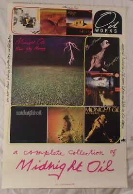 Midnight Oil 1990 Promo Poster Blue Sky MIning Columbia Records With Catalog