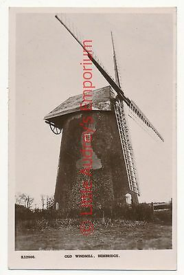 Postcard Old Windmill Bembridge by Kingsway Unposted RP  AJ161
