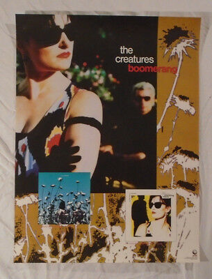Creatures 1989 Promo Poster Boomerang Siouxsie Sioux And The Banshees