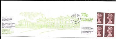 Qe11 G,b,1979 £0.70 Booklet Derby Mechanised Letter Office Sg Fd7A Nhm