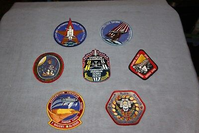 NASA Lot of 7 Space Shuttle Mission Patches Columbia/Challenger/Discovery etc.
