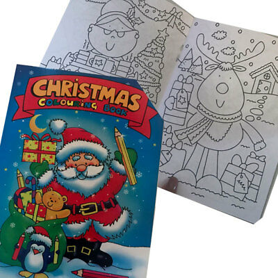 Christmas Colouring Book Mini Colouring Book Stocking Filler Loot Bag Party New
