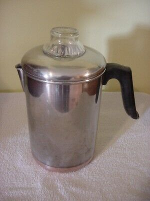 1801 Revere Ware Copper Clad Stainless Steel 8-cup Stovetop Coffee Percolator