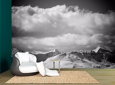 Black And White Mountains Sky Wall Mural Photo Wallpaper GIANT WALL DECOR