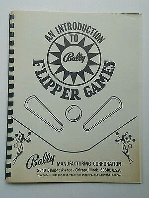 An Introduction to Bally Flipper Games 47 Pages Great Condition
