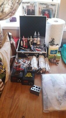 Used tattoo kit but we'll been looked after with 5 guns 2 power box's ect