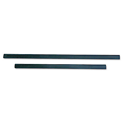 "Unger ErgoTec Replacement Squeegee Blades 12"" Wide Black Rubber Soft 12/Pack"