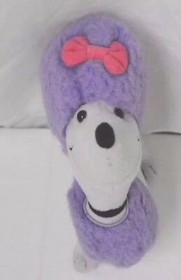 """Scholastic Clifford the Big Red Dog Cleo Purple Poodle Plush Stuffed Animal 8"""""""