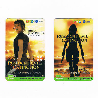 For Collectables uncommon thing Used Prepaid Top-up card Resident Evil Extinctio