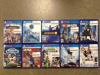 Lot of 10 USED PS4 Games-STAR WARS BATTLEFRONT, GUITAR HERO LIVE AND MORE!