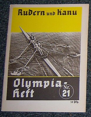 OLYMPICS 1936  Booklet  No. 21 - Rowing & Canoeing.