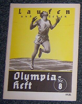 OLYMPICS 1936  Booklet  - Running & Walking.   Nr.8.