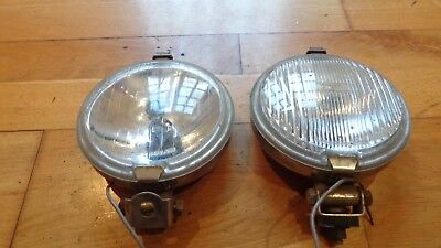 Vintage Classic Car Wipac Front Fog Spot Lights Lamps Chrome Barn Find