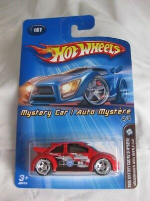 Hotwheels Rare 2005 Mystery Car 4/4 Volkswagen New Beetle Cup Mint In Card