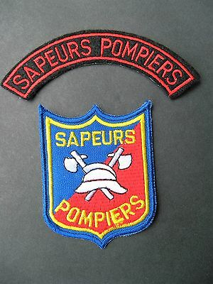 Two (2) European Fire Fighting Patches Sapeurs Pompiers