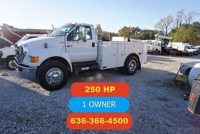 2008 Ford F750 Altec service utility bed Used service mechanic utility 250hp cat
