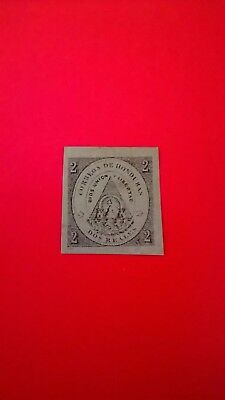 Honduras 1865  2 Real stamp - First ever issue of Honduras stamps