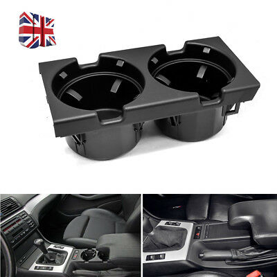 FRONT CENTER CONSOLE CUP/DRINKS HOLDER BLACK FOR BMW 3 SERIES E46 51168217953 gz