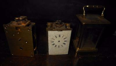 miniature brass cased  carriage clock for spares/repair