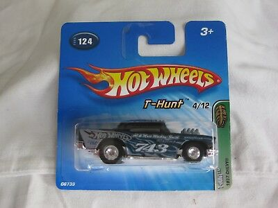 Hotwheels 2005 Treasure T-Hunt 1957 Chevy,Real Riders Mint On Short Card