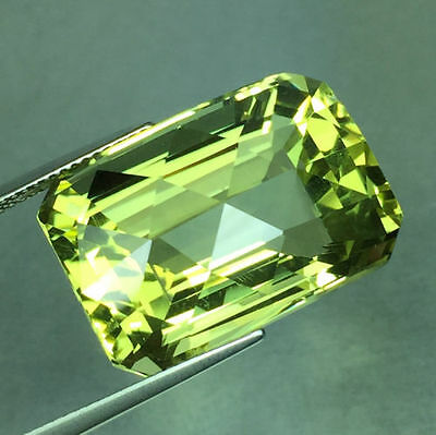 UNUSUAL 18x12mm OCTAGON-FACET CHECKER-CUT BRAZILIAN LEMON CITRINE GEM (APP £136)