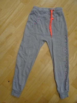 MIM PI girls grey jersey tracksuit trousers AGE 6-7 YEARS EXCELLENT