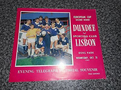 DUNDEE  v  SPORTING LISBON ( PORTUGAL )  1962/3  EUROPEAN CUP ~ OCTOBER 31st