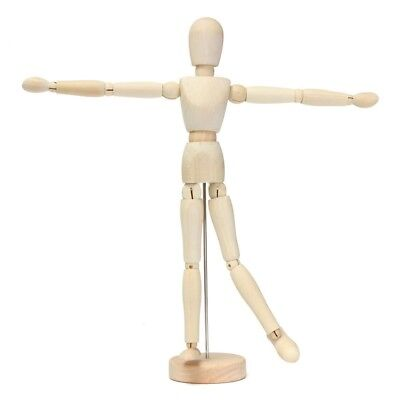 "12"" artist wooden man mamikin mannequin sketch sketching lay figure WS L9V6"