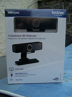 Webcam Brother NW-1000 full HD 1080 - grand angle - autofocus - 2 microphones