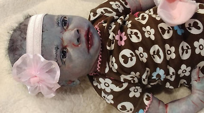 ZOMBIE Reborn Horror Art Dawn of the Dead Blue Baby Halloween Prop