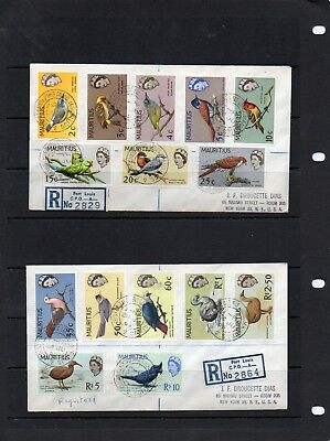 2 Registered covers Mauritius Birds 1965.