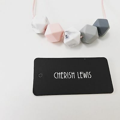 CHERISH LEWIS-Silicone baby's teether Silicone necklace(BPA FREE &Non-toxic)