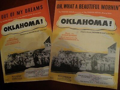 Oklahoma! Piano Sheet Music X 2 (1942-1943)