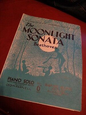 The Moonlight Sonata - Beethoven Piano Solo Sheet Music