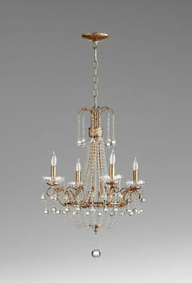 French Country 4 Light Chandelier Vintage Style Chateau