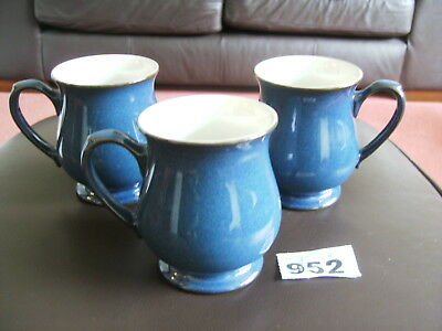 3 DENBY BOSTON CRAFTSMANS MUGS 1st quality in perfect condition