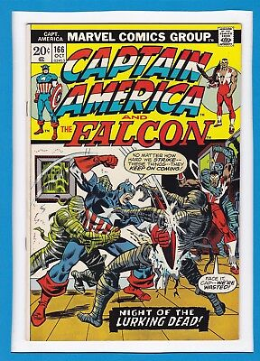 Captain America & The Falcon #166_October 1973_Very Fine+_Yellow Claw_Nick Fury!