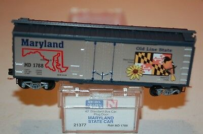 Micro Trains Line Maryland State Car 40' Box Car 21377 N Scale NEW SC 50G