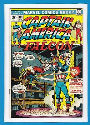 CAPTAIN AMERICA & THE FALCON #168_DECEMBER 1973_VERY FINE MINUS_1st APP PHOENIX!
