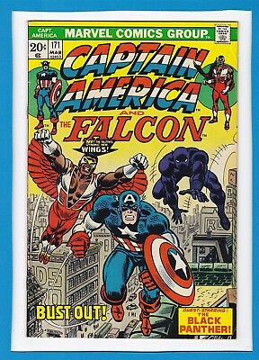 Captain America & The Falcon #171_March 1974_Very Fine_Black Panther_Iron Man!