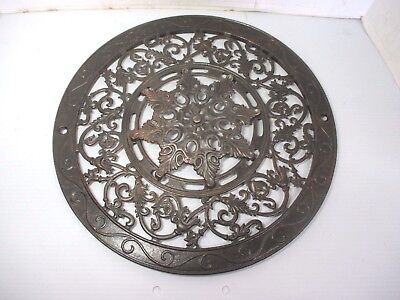 """Large Ornate Cast Iron Victorian Floor Wall Grate Heating Vent Register 15 1/2"""""""
