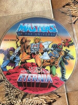 """Masters of the universe 7"""" vinyl single samples vintage toy picture disc record"""
