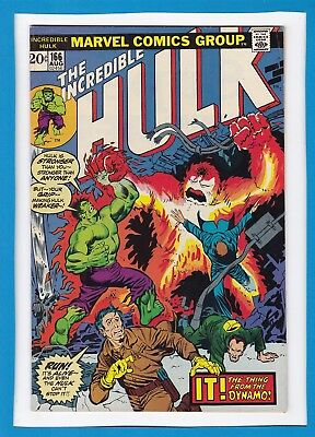 "Incredible Hulk #166_August 1973_Fine+_Hawkeye_""it...the Thing From The Dynamo""!"