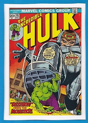 "Incredible Hulk #167_Sept 1973_Fine/very Fine_Modok_""to Destroy The Monster""!"