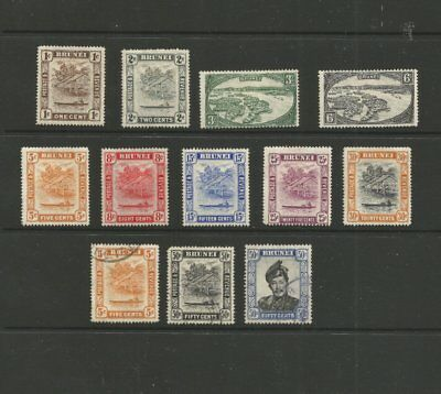 Brunei 1947-52 - 9 M/mint & 3 Used Stamps Total 12 Stamps